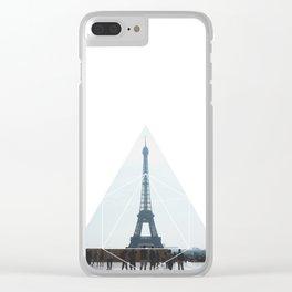 Eiffel Tower Art - Geometric Photography Clear iPhone Case