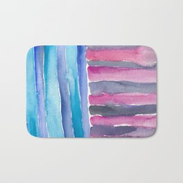 Colorful Quilt Abstract Bath Mat