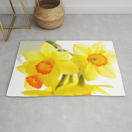 narcissus flowers Rug