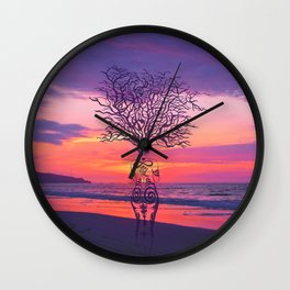 Sea of lonely hearts by #Bizzartino Wall Clock
