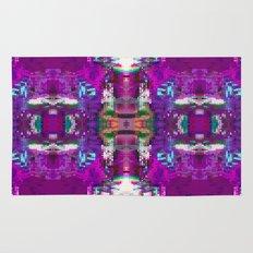 Purple digital patchwork Rug