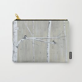 Birch Birds Carry-All Pouch