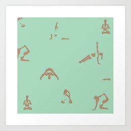 Yoga Practice — Mint Art Print