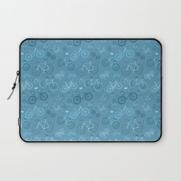 I love bikes in teal Laptop Sleeve