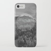 the mountains are calling iPhone & iPod Cases featuring the mountains are calling by monicamarcov