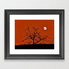 Red Sky Moon Framed Art Print