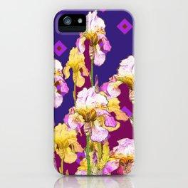 Iris Garden In Shades Of Purple iPhone Case
