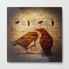 Huginn & Muninn on the wall Metal Print