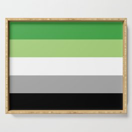 Aromantic Flag Serving Tray