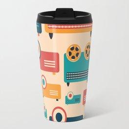 Retro Media Pattern 02 Travel Mug