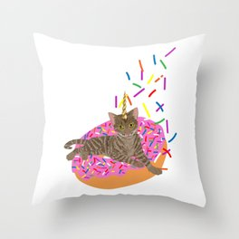 Sweet Sprinkles Throw Pillow