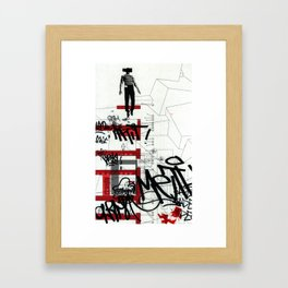 red series 3 Framed Art Print