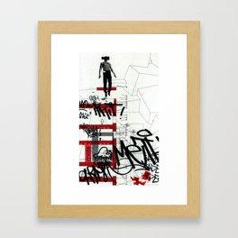 red series 3 Framed Art Print