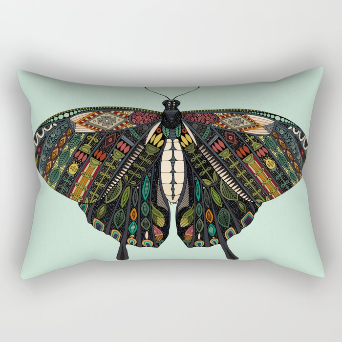 swallowtail butterfly mint Rectangular Pillow