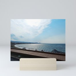 Coastal Shoreline and Boardwalk Mini Art Print