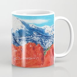 Pikes Peak Behind the Garden of the Gods Coffee Mug