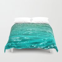 toilet Duvet Covers featuring SIMPLY SEA by Catspaws