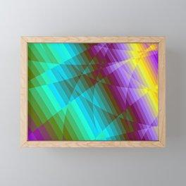 Color Fractions Framed Mini Art Print