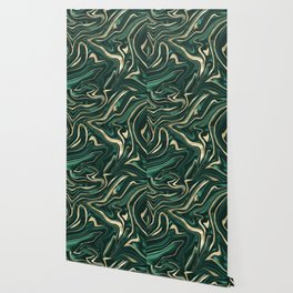 Emerald Green Black Gold Marble #1 #decor #art #society6 Wallpaper