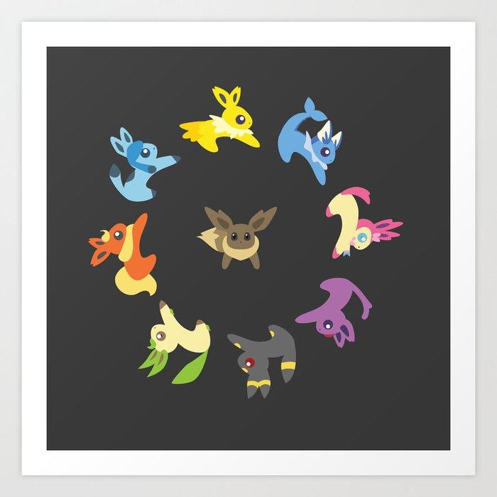 Eevee Evolutions Art Print