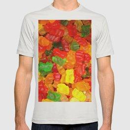 red orange yellow colorful gummy bear T-shirt