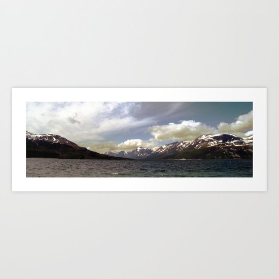 northern landscape panorama, norway. Art Print