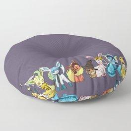 Eeveelutions Go To Hogwarts Floor Pillow