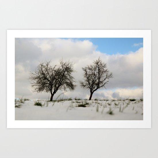 White dreams Art Print