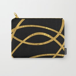 Golden Arcs - Abstract Carry-All Pouch