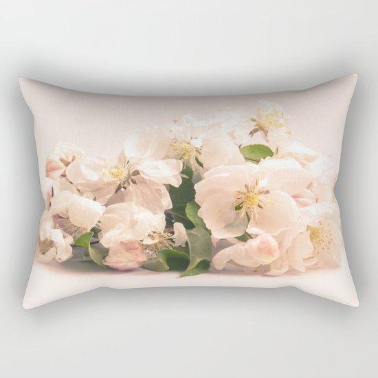 White flowers, spring photography Rectangular Pillow
