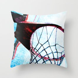 Basketball artwork spotlight vs 4 sports art Throw Pillow