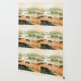 Egret On The Marsh Wallpaper