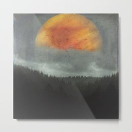 Spaces XVI - Fireball Metal Print