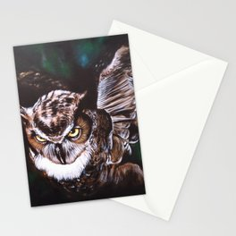 Owl in the night Stationery Cards