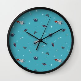 Spaceman. Wall Clock