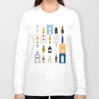 bar Long Sleeve T-shirts featuring Open Bar by Liz Slome