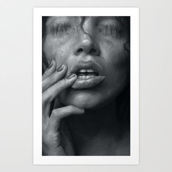Eaten B&W Art Print