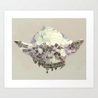 yoda Art Prints featuring Yoda by Messypandas