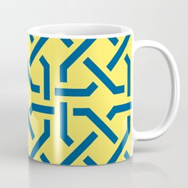 Abstract yellow-blue pattern Coffee Mug