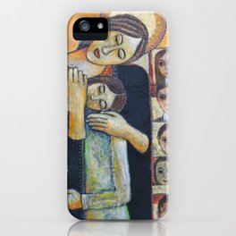 Holy Family #2 By Nabil Anani iPhone Case