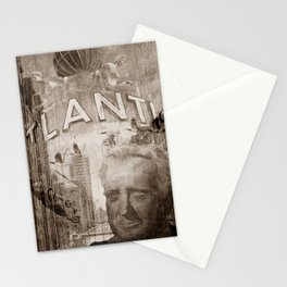 Good bye perl - Hans Albers version - sepia Stationery Cards