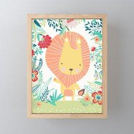 Lion in the Jungle Framed Mini Art Print