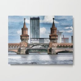 Oberbaum Bridge, Berlin Metal Print