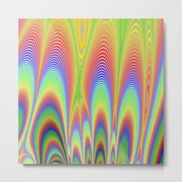 Fractal Rainbows Metal Print