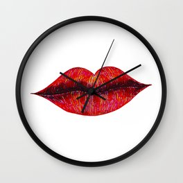 Big Lips Wall Clock