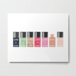 Vanity Wall Decor, Nail Polish Collection Metal Print