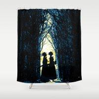 wonderland Shower Curtains featuring Wonderland by Design4u Studio