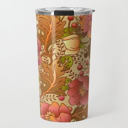 Fall Flowers Travel Mug