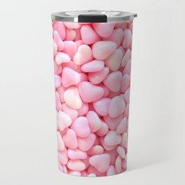 Pink Candy Hearts Travel Mug