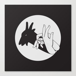 Not A Gang Sign For Goats Canvas Print